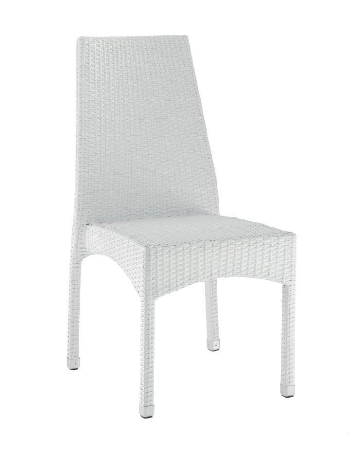 SE 773, Tejida silla al aire libre, con patas de aluminio