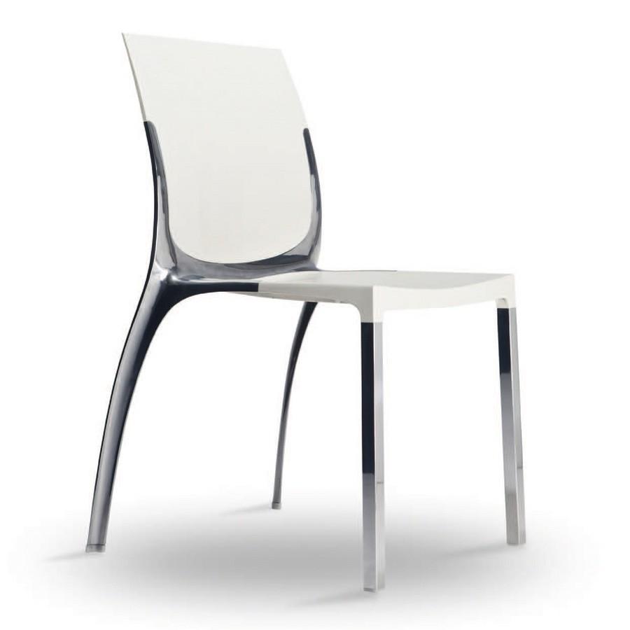 SE 800 / EST, Silla en aluminio y policarbonato, en un estilo elegante