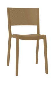 Stan - S, Silla apilable para exterior, silla de plástico para los jardines