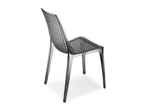 Tricot chair, Silla de policarbonato transparente, para interior y exterior