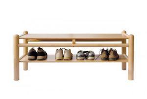 940/P2, Banco de madera de haya, con estante, para parques infantiles y jardines de infancia