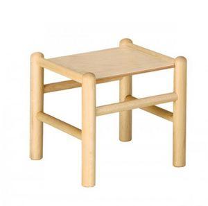 942, Taburete de madera de haya para los niños, en varios colores