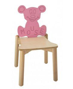 ANIMALANDIA - Mouse, Silla apilable en madera de haya y el abedul, para áreas de juego