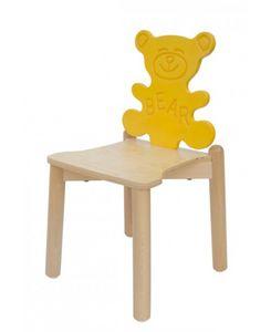 ANIMALANDIA - Bear, Sillas divertidos de los niños, de los respaldos con los animales de forma