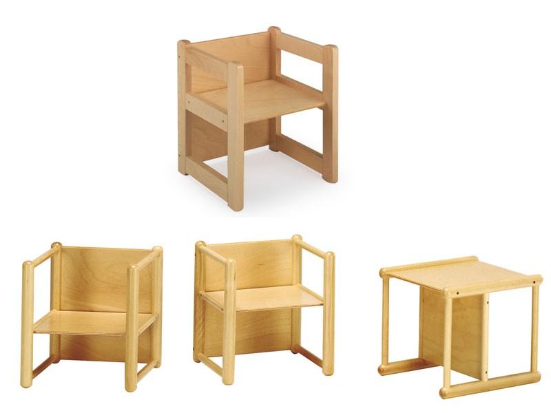 DIXI, Silla multipropósito, hecho de madera de haya, para los niños