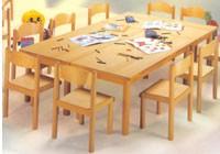 HEIDI, Silla apilable, para la escuela y jardín de infantes, de madera de haya
