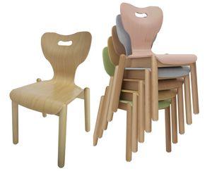 MIA, Silla para niños, apilable, con diseño anatómico.