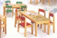 MINNIE, Silla en madera, pintura no tóxica, para las escuelas y jardines de infantes