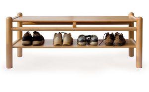 PANCA 920 P2, Banco para niños con zapatero, estructura de madera de haya