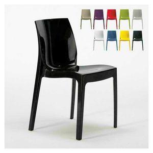 Cocina casera brillante silla ICE - S6317, Cátedra de plástico brillante, apilable y económico, disponible en varios colores