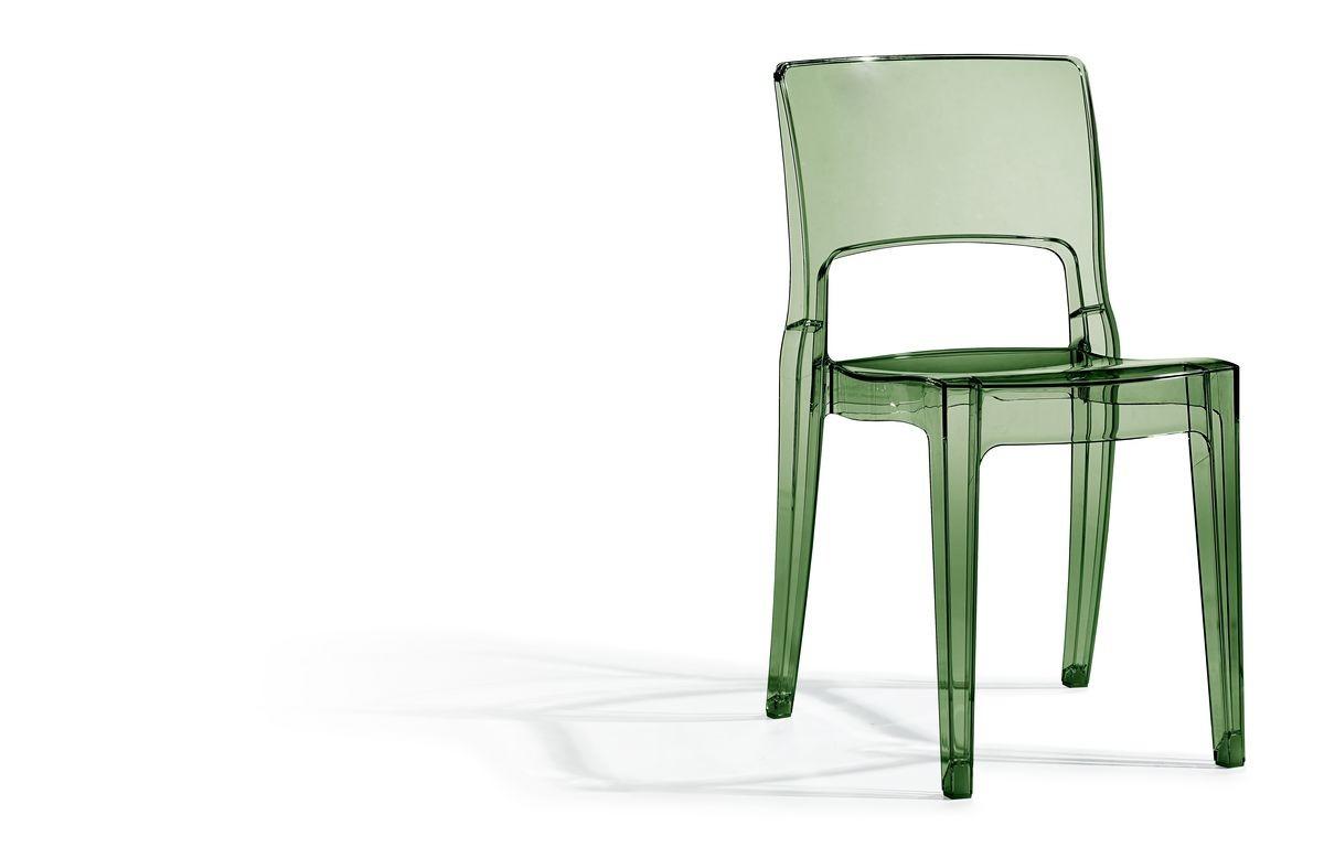 SE 2352.TR, Apilable de plástico trasparente silla ideal para bares