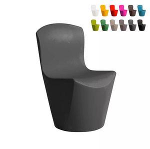 Silla de diseño moderno Slide Zoe para bar restaurante y cocina de jardín SD ZOE080, Silla de polietileno para interior y exterior