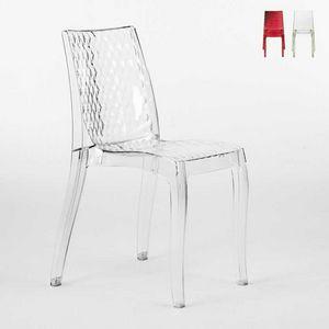 Silla de diseño transparente interna Hypnotic - S6319, Silla de policarbonato transparente, para exterior