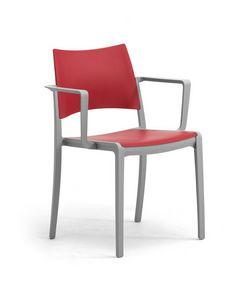 Staky, Silla apilable con asiento y respaldo de polipropileno