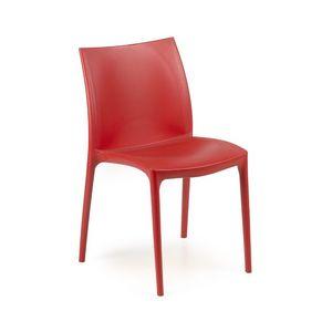 Zip, Silla con asiento y respaldo de plástico, apilables