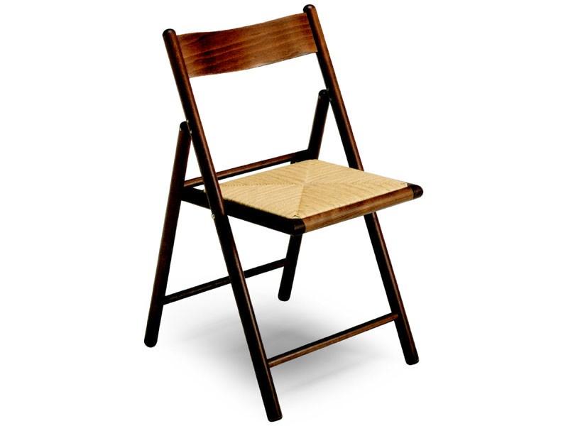 185 F , Silla plegable, con asiento de paja, para el restaurante