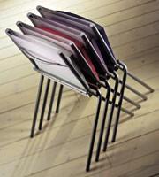 ART. 199 HELENA, Silla apilable para la cocina, bueno para el ahorro de espacio