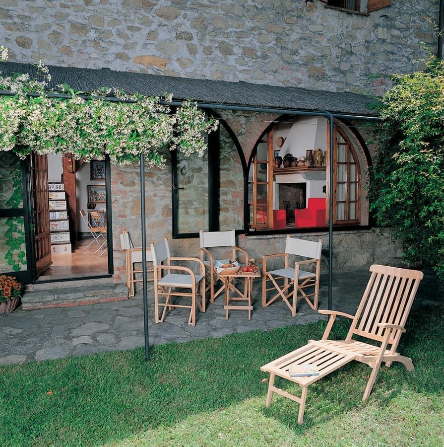 Chaise longue, Tumbona de madera para el jardín
