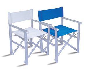 CHAT67, Silla del director de aluminio, asiento y respaldo de PVC
