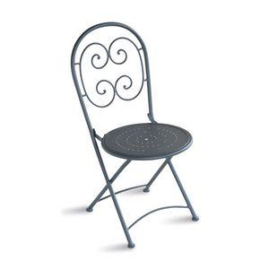 CHF08, Silla plegable de acero galvanizado, para el aire libre