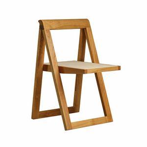 Ciak 5188, Silla plegable de madera, con asiento de cuero.