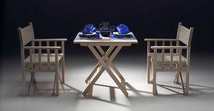 Dolce Vita, Silla plegable de madera para uso en interiores y al aire libre