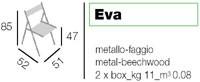 Eva, Silla plegable para uso en exteriores