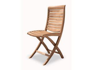 Mirage silla plegable, Silla plegable de madera, para uso en exteriores