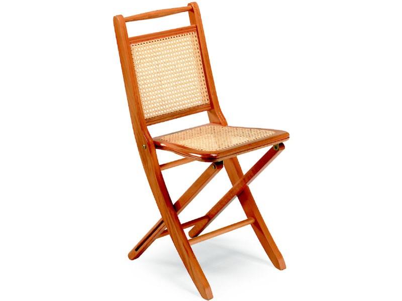 Paola, Sillas plegables de madera, asiento y respaldo de caña