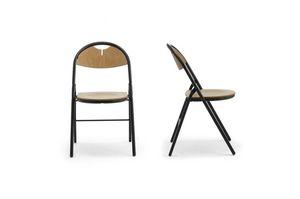 Piega 0550LE, Silla plegable de metal y madera, para salas de conferencia