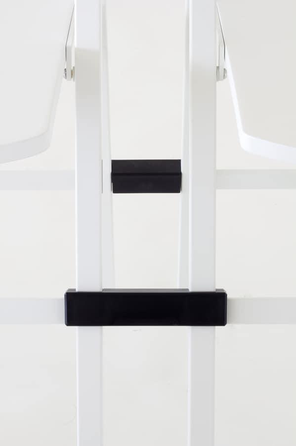 Pocket plastic, Versátil silla plegable, estructura metálica, asiento y respaldo en polipropileno