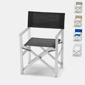 Director silla de playa de aluminio Regista � RE800LUX, Silla de playa, plegable, ahorro de espacio