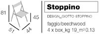 Stoppino, Sillas de madera, plegable, para el uso del contrato