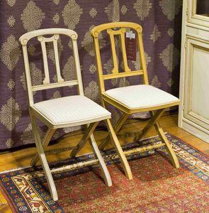 Thiphanie BR.0208, Silla plegable con asiento tapizado