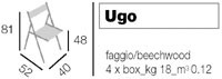 Ugo, Sillas plegables de madera oscura