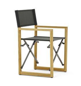 Victor director sillón teak, Silla de director en teca, plegable y ahorradora de espacio.
