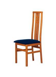 C05, Silla de haya con respaldo alto, asiento acolchado