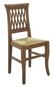 101, Silla rústica con asiento de paja