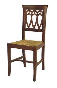 104, Silla rústica, con asiento personalizable.