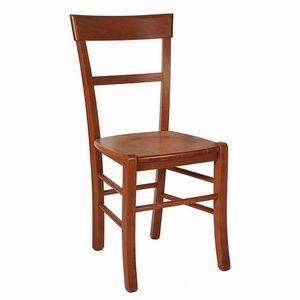 109, Silla rústica con asiento de madera