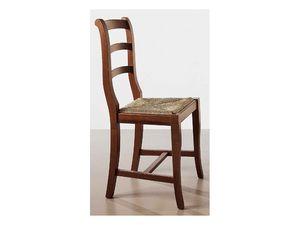 152, Silla de madera en bruto, asiento de paja, para el uso del contrato