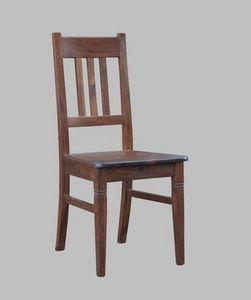 188, Rústica silla en madera de haya, acolchado