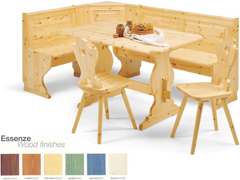 2/GNO, Banco de la esquina, de estilo rústico de madera, para el restaurante