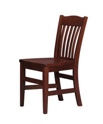 218, Pintada rústica silla, el respaldo de lamas verticales
