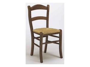 303, Rústica silla de madera de haya para bares y restaurantes