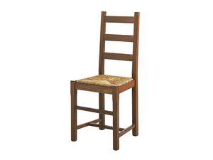 334, Sillón de madera maciza, con asiento de paja