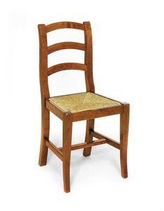 Art.107, Silla rústica en madera y paja.