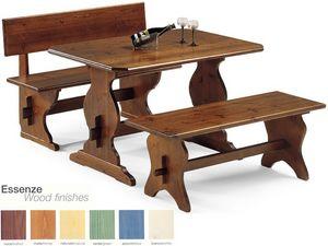 FRA/130, Banco sencillo de madera maciza, de taberna