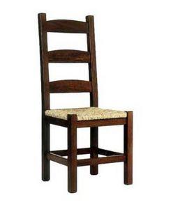 Friulana, Silla rústica con estructura de madera y con asiento de paja