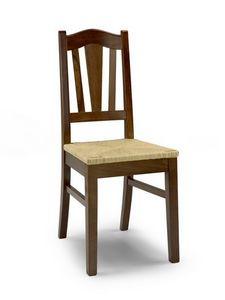 Iris A, Rústica silla con asiento de paja y respaldo con listones